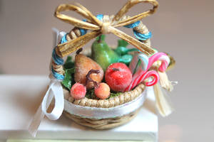 Fairy Basket - Christmas Sugared Fruit by WaterGleam