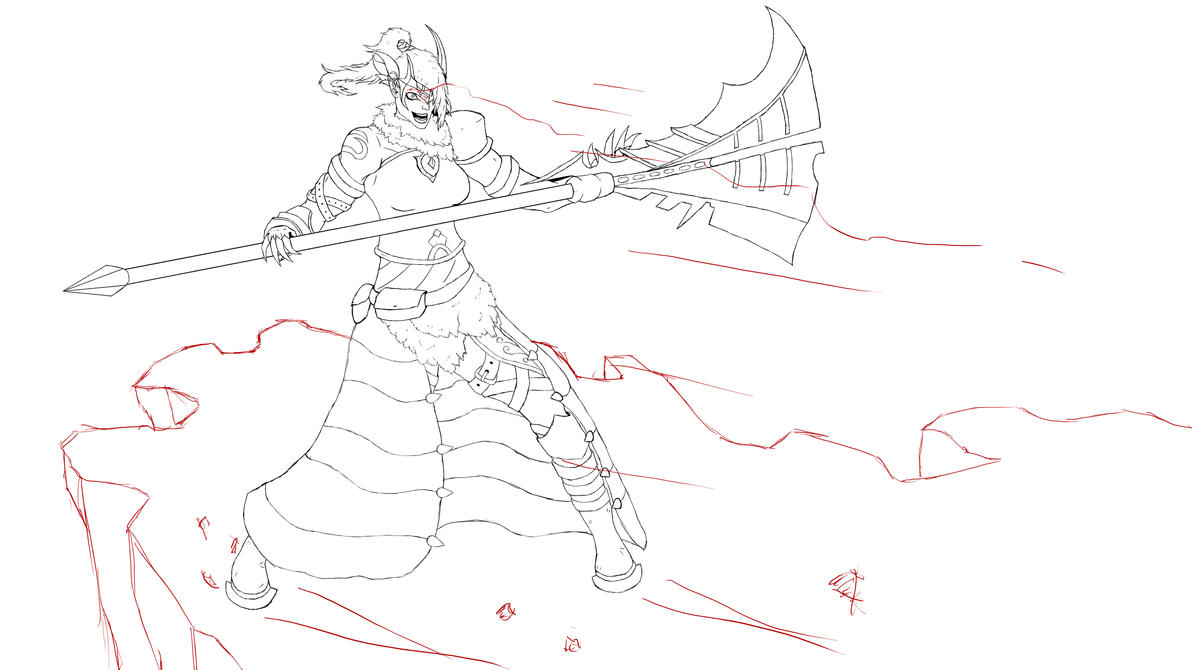 Aion Gladiator Lineart by Suuxe