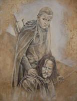 Aragorn - Legolas by cpn-blowfish