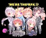 [Mystic Messenger Fanart] We're the RFA!!!!!