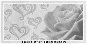 rose and hearts brushes
