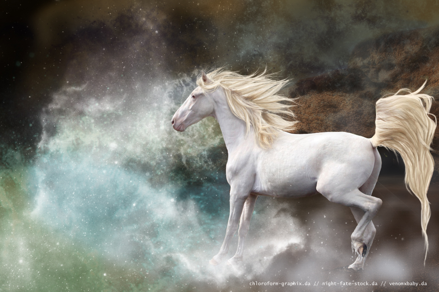 white horse galaxy by chloroform-graphix on DeviantArt