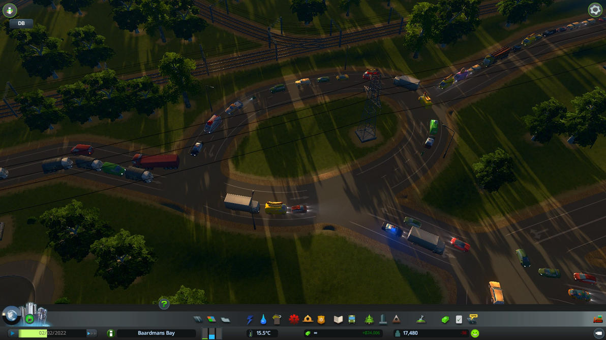 ciites skylines roundabout by g8ut