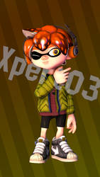 Inkling boy hair test (commission preview) by Xpert03