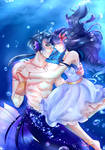 Lovers in the sea