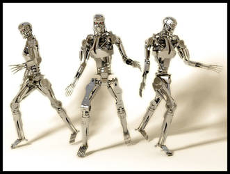 Terminator Endoskeleton 3D by WaskoGM