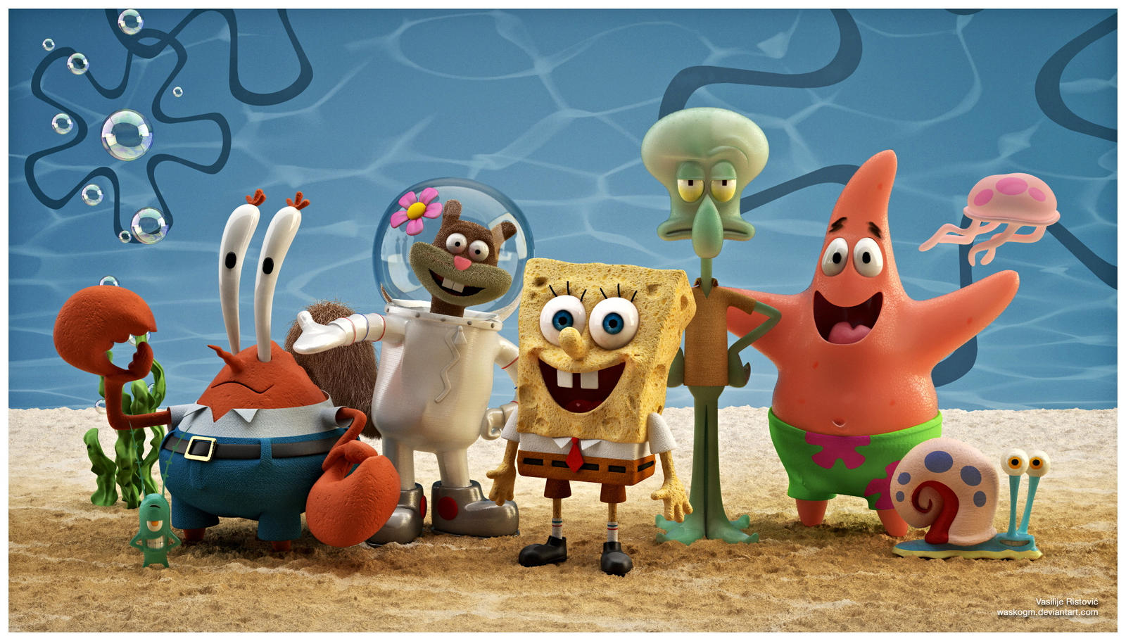 spongebob squarepants characters 3dwaskogm on deviantart