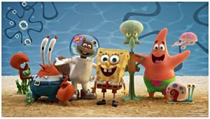 Spongebob Squarepants characters 3D