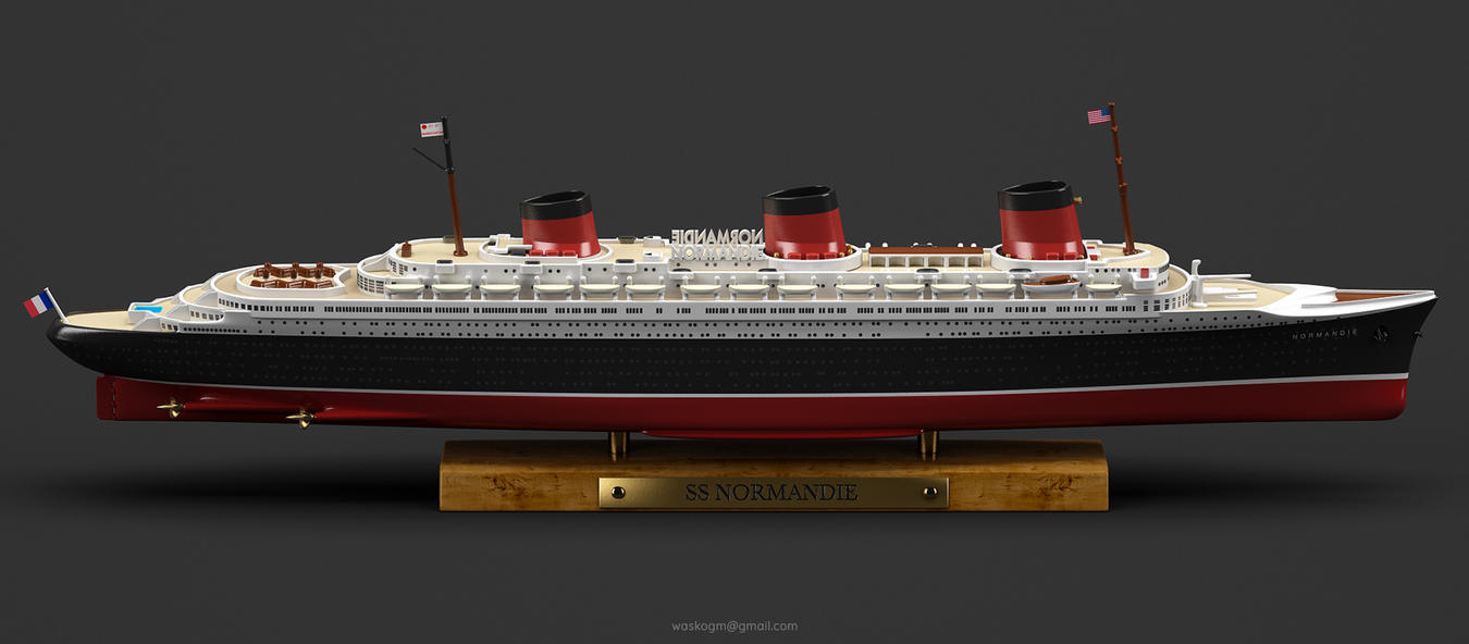 Ss Normandie By Waskogm On Deviantart