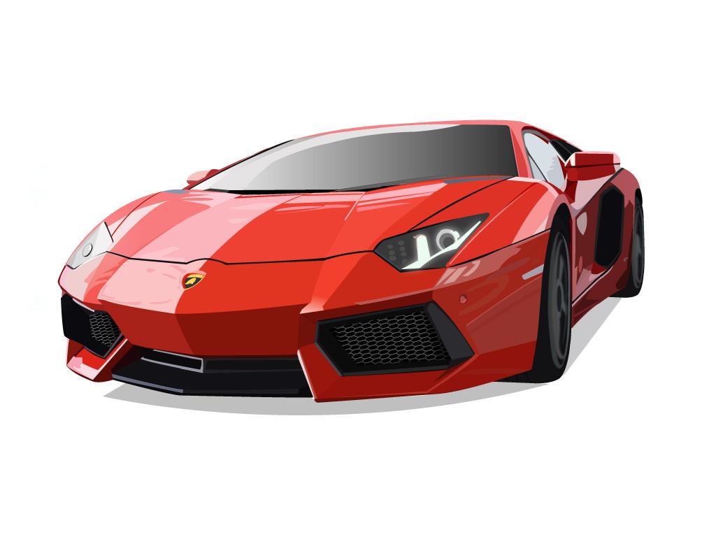 Group Of Lamborghini Aventador Vector By