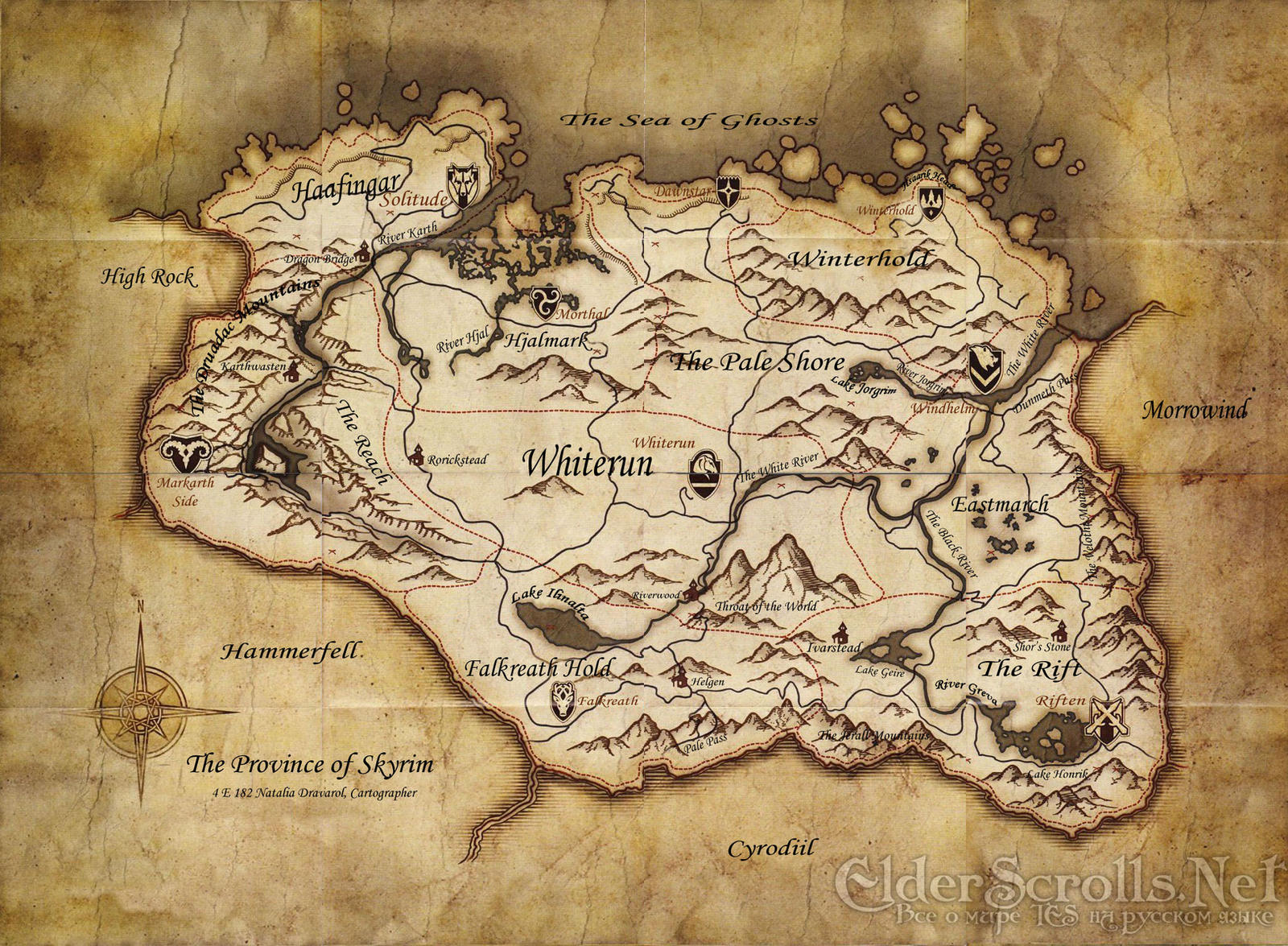 Skyrim map supposed version by NorroenDyrd