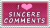 I HEART Sincere Comments