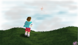 The kid and the Kite