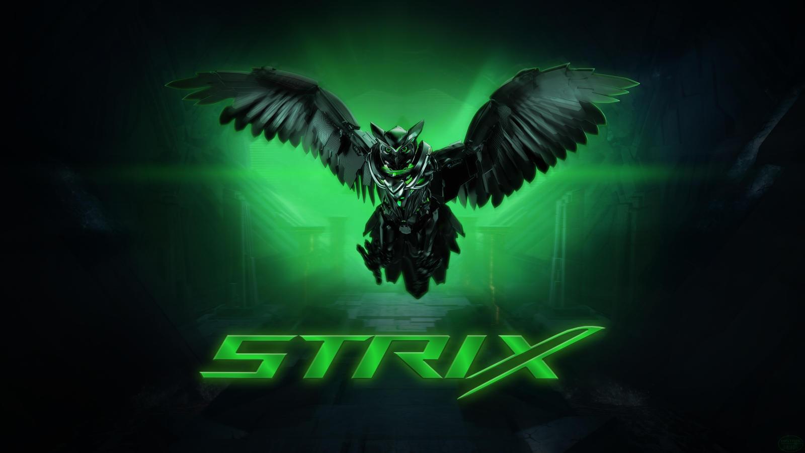Asus Rog Strix Wallpaper 4k Alien Green By Mstrl On Deviantart