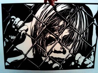 'Locked up'- paper cutting by EllaBaras