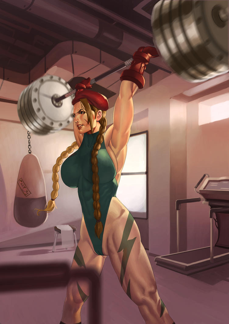 Female Muscle Cammy by muscle-fan-comics