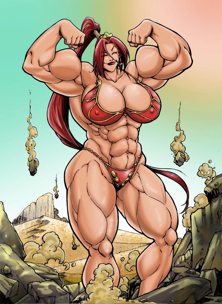 female muscle comics