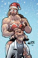 Merry Christmas Muscle Fans! by muscle-fan-comics