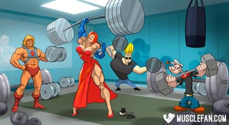 Toon Town Titan by muscle-fan-comics