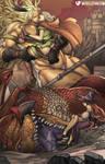 Giantess Amazon and Elf
