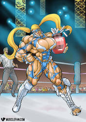 Female Muscle Growth Mika by muscle-fan-comics