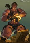 Female Muscle Growth Goddess Lara Croft