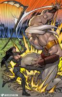 Tess Versus GIAN-tess by muscle-fan-comics