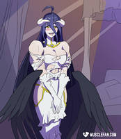 Albedo, Ready and Waiting by muscle-fan-comics