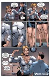 Female Office Worker Muscle Growth by muscle-fan-comics