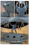 Muscular Woman Versus Bunker