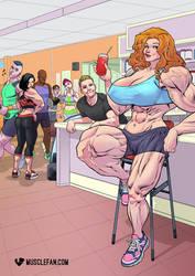 Giant Gym Girl