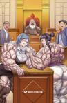 Amazon Ace Attorney 2: Arm-Wrestling Showdown! by muscle-fan-comics