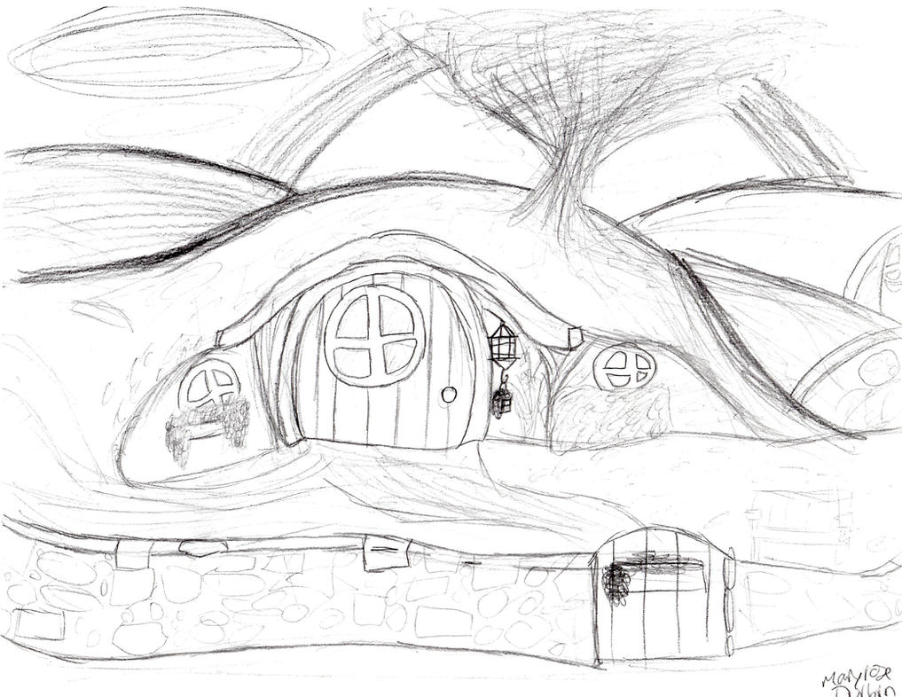hobbit hole uncolored by ryukitsume on deviantart