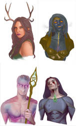 DnD Fantasy Character Sketches