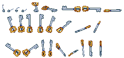 Keyblade Sprite Sheet by SpriteNerd