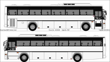 Nissan Diesel/NDPC Eurobus Coach by BigshotDuelist