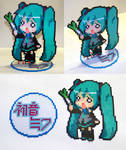 Perler Bead Hachune Miku with Stand