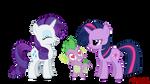 Rarity, Spike and Twilight Sparkle