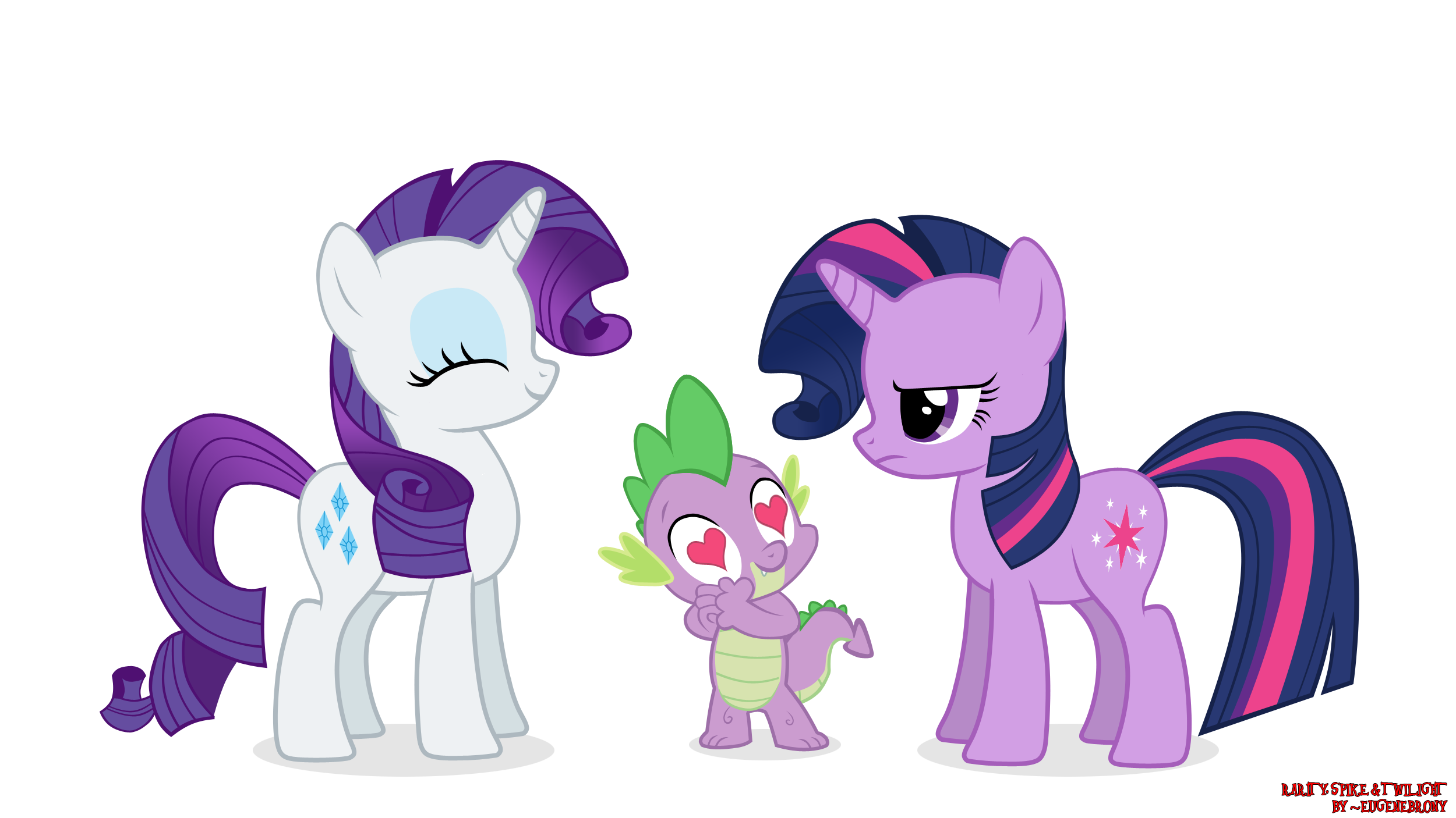 My little pony twilight sparkle and rarity