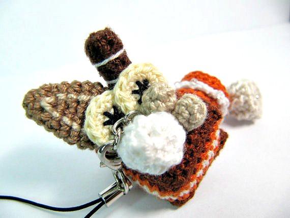 Amigurumi Penguin Cell Phone Strap : Amigurumi Hazelnut Box Cake Cellphone Charm by Kashitaro ...
