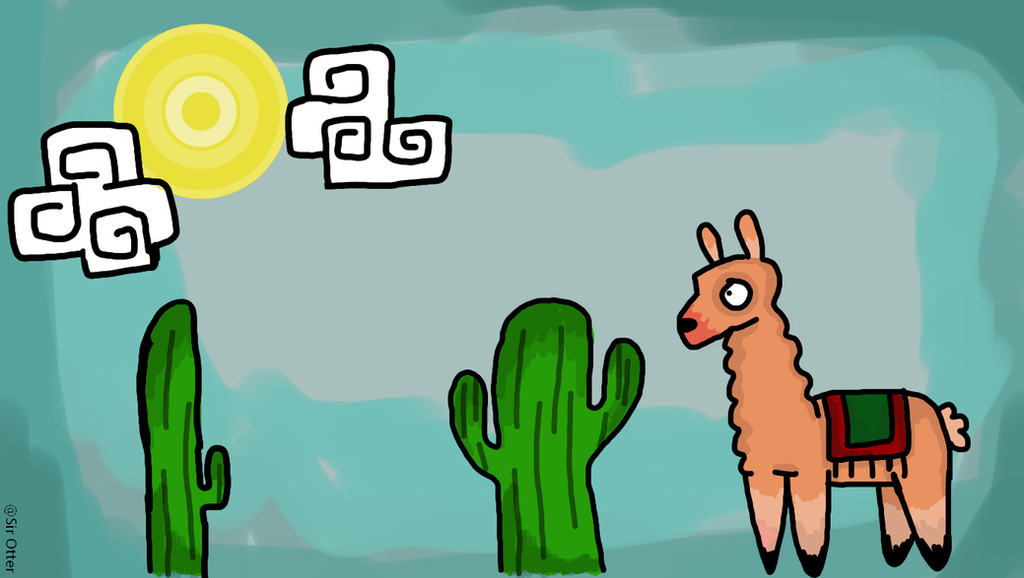 Llama Wallpaper Free To Use On Your Pc By Sir Otter