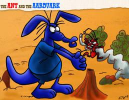 Ant Vs Aardvark by theEyZmaster