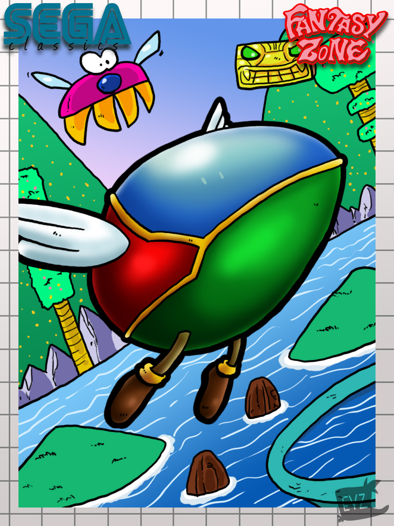 Opa Opa comes from the Fantasy Zone series, another Arcade classic.