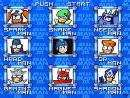 Mega Man 3 Menu - HD remake by theEyZmaster
