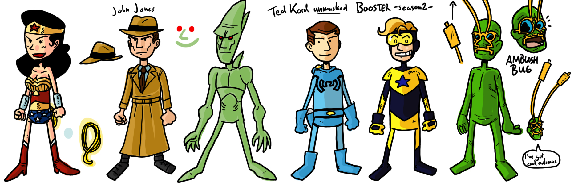 HEROES!: BONUS FEATURES: Superbuddies! Character Sheets #4 the ...
