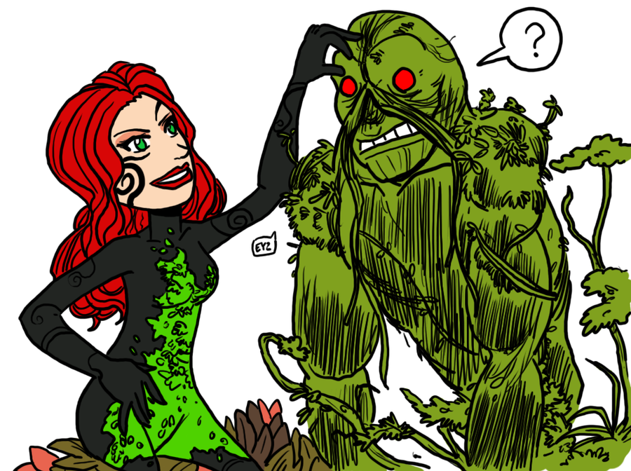 tumblr-doodle Poison Ivy + Swamp Thing by theEyZmaster