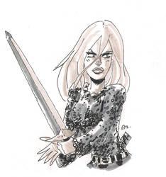 DSC 2013-12-19 Red Sonja by theEyZmaster