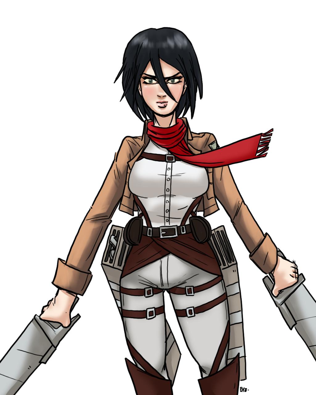 Mikasa by theEyZmaster on DeviantArt