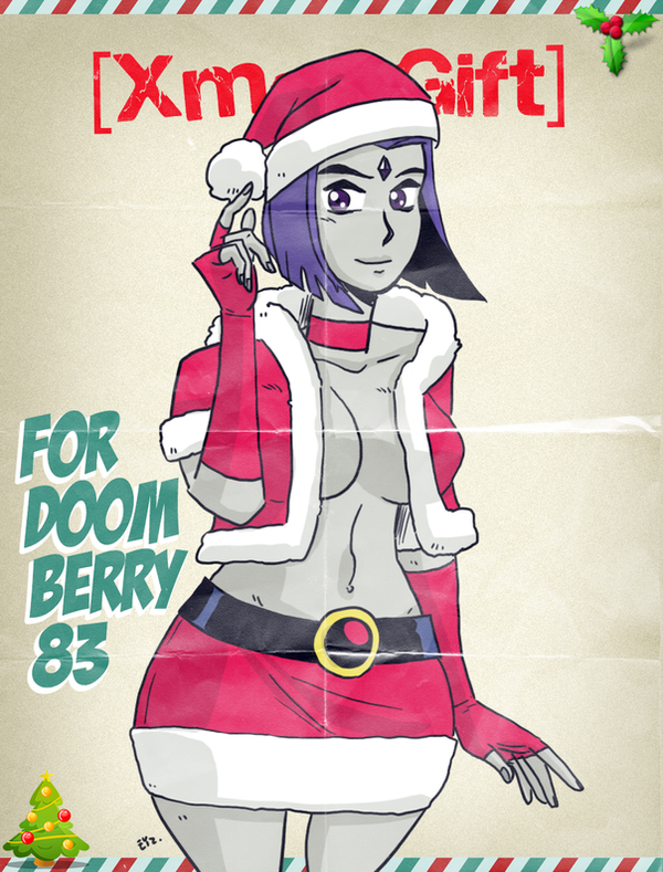 #XmasGift - Raven for DoomBerry83 by theEyZmaster