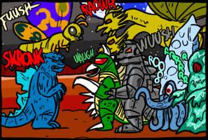 Godzilla: Monster of Monsters (NES) by theEyZmaster
